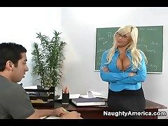 Seductive crammer Puma Swede blows student