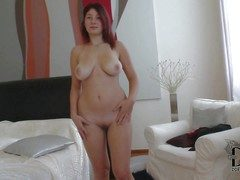 Fetching pale redhead babe Nanny with curvy hips together with big