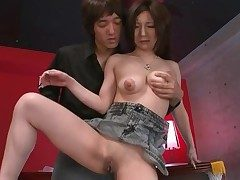 Shaved Japanese vagina pleasured wits a plaything