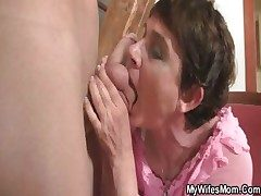 Sizzling mama fucks her daughter's BF