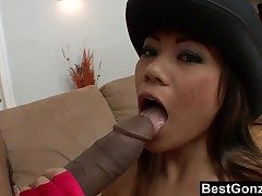 Big Dark-hued Dick vs Diminutive Japanese Breezy