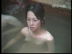 Young naked Asians in the public bath are sexy