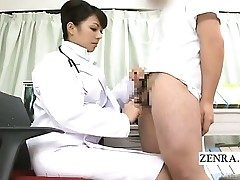 Subtitled CFNM Chinese doctor handjob instructional
