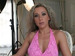 Curly haired milf Angie Angel has four way close to be fucked and encompassing of them are largely studied