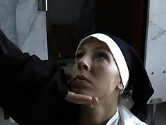 Bossy nuns choking biotch